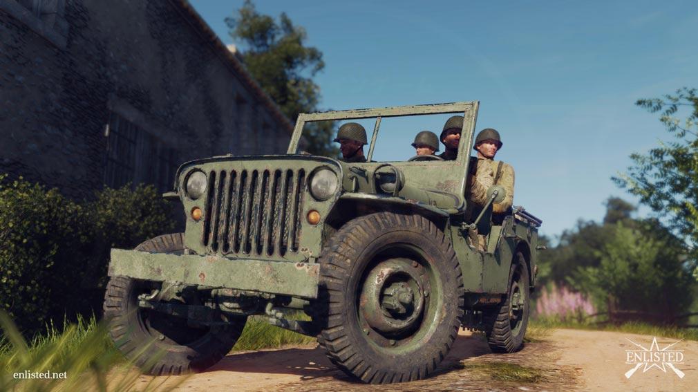 ENLISTED プレイヤーが操作できる軍のジープスクリーンショット