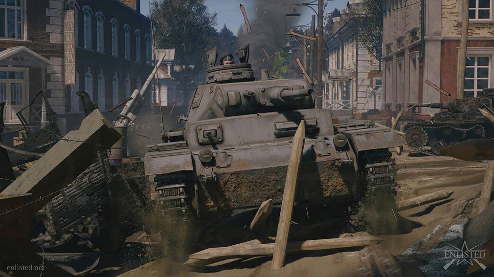 ENLISTED 戦車操作スクリーンショット