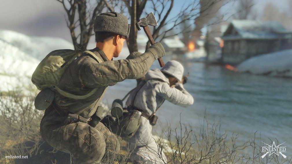 ENLISTED 時には接近武器で戦うスクリーンショット