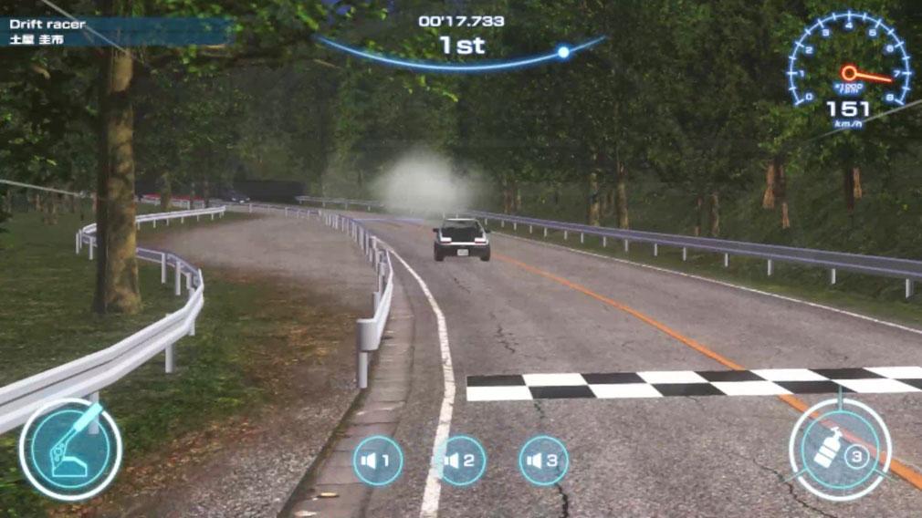 ザ・峠 DRIFT KING 1980 公道がコースとして登場するスクリーンショット