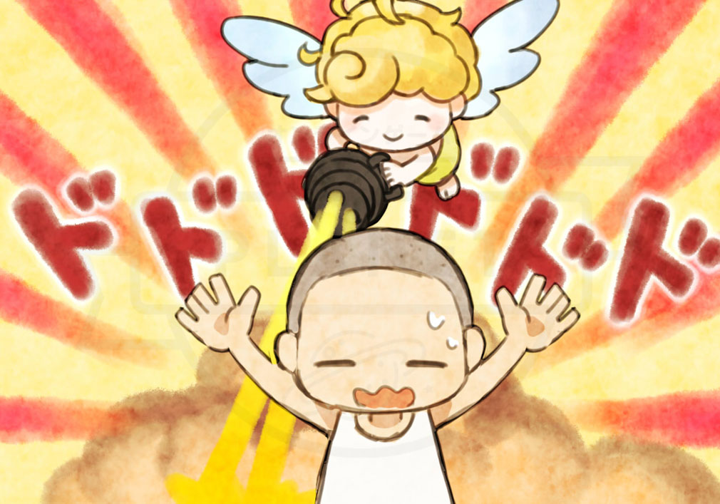 にょろっこ にょろにょろ対戦ごっこ 天使側キャラクター『天使ちゃん』紹介イメージ