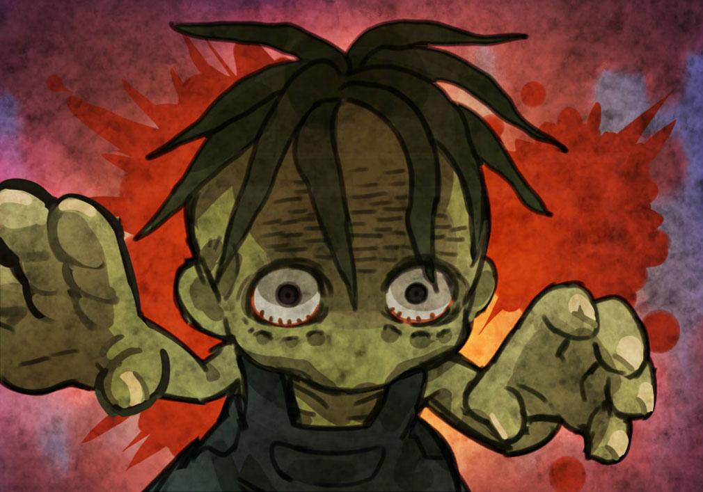 にょろっこ にょろにょろ対戦ごっこ 天使側キャラクター『ゾンビ』紹介イメージ