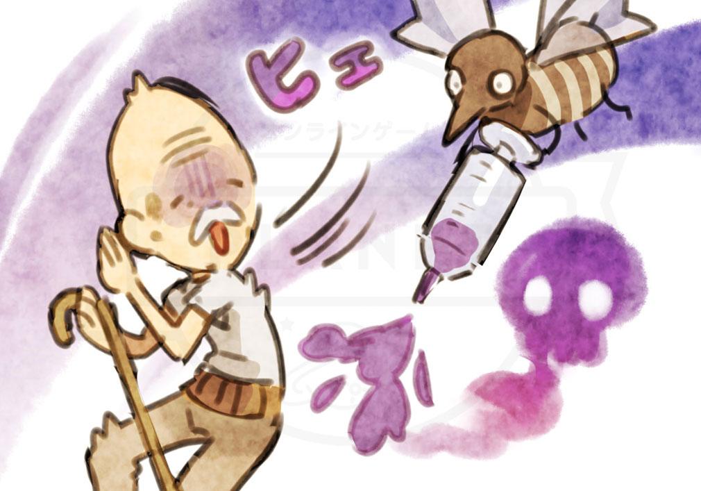 にょろっこ にょろにょろ対戦ごっこ 天使側キャラクター『蚊』紹介イメージ