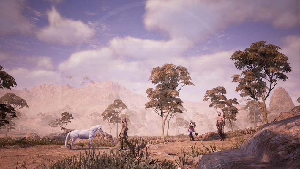 BLESS UNLEASHED PC(ブレスアンリーシュド) 『ナバラ北部地域』野生の馬が生息しているスクリーンショット