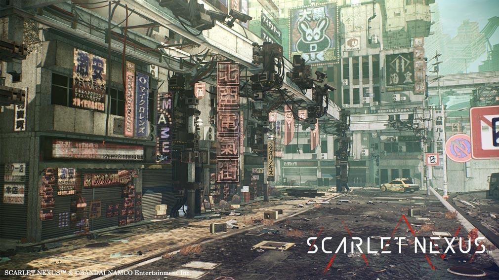 SCARLET NEXUS(スカーレットネクサス) 『ニューヒムカ』の街並みスクリーンショット