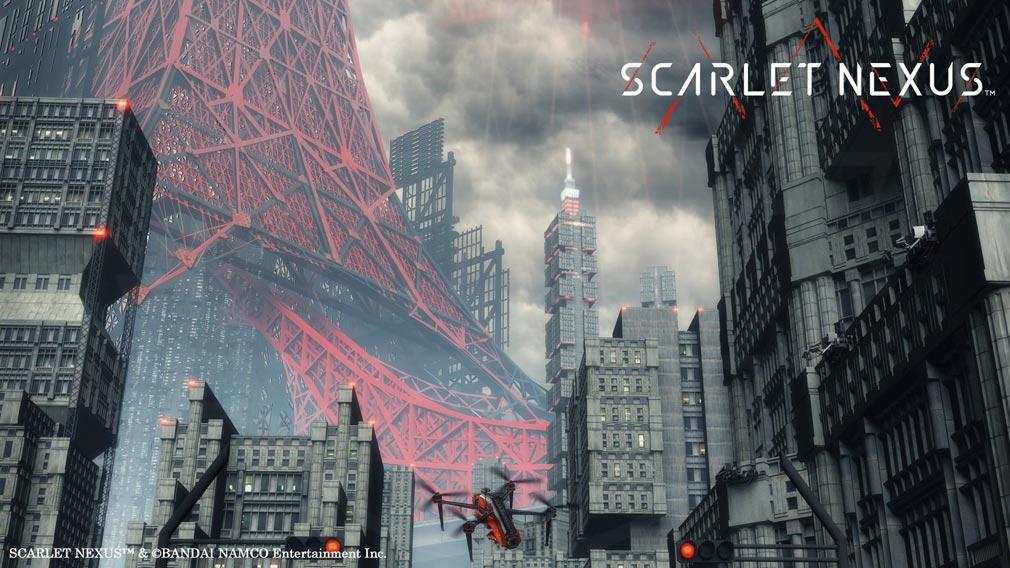 SCARLET NEXUS(スカーレットネクサス) ドローンが飛び交う『スオウ京』スクリーンショット