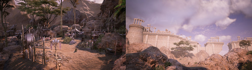 BLESS UNLEASHED PC(ブレスアンリーシュド) 長大な城壁がそびえ立つ『ナバラ南部地域』スクリーンショット