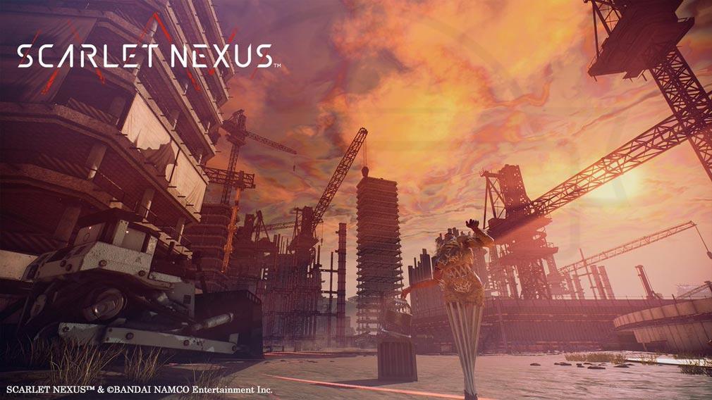 SCARLET NEXUS(スカーレットネクサス) 『ミヅハ川新都市開発特区』スクリーンショット