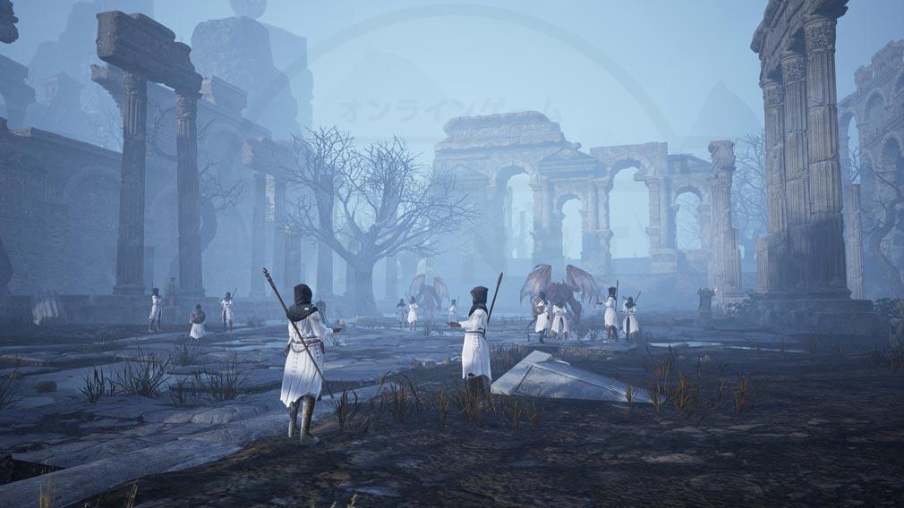 BLESS UNLEASHED PC(ブレスアンリーシュド) 『テルニー地域』魔物を崇拝する狂信者達が集う神殿のような史跡が立ち並ぶエリアスクリーンショット