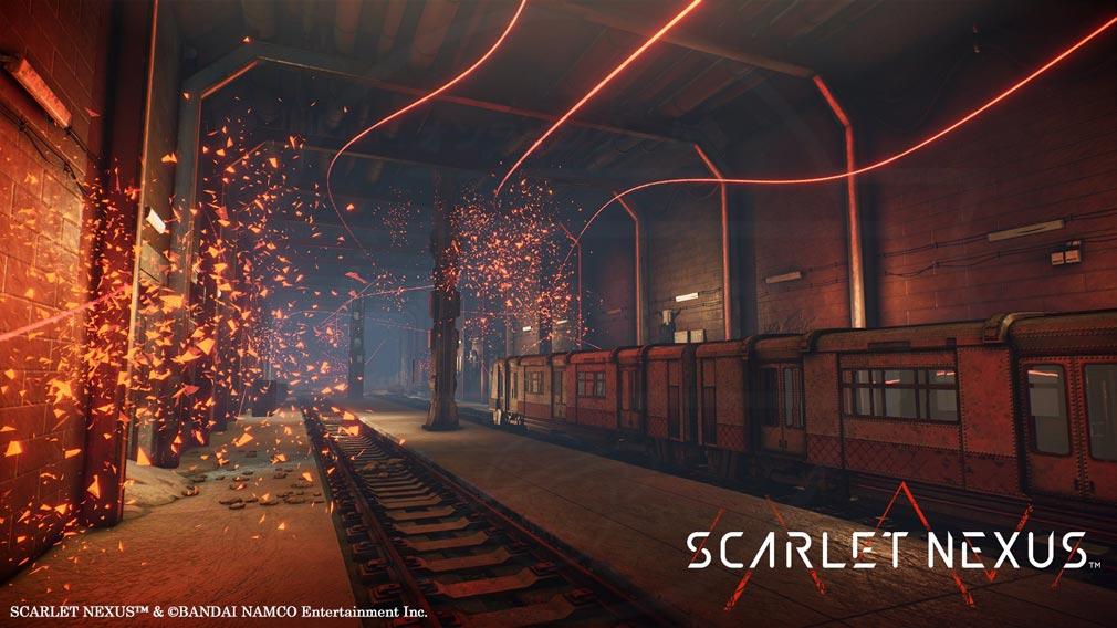 SCARLET NEXUS(スカーレットネクサス) 地下『廃地下軌道 スオウ九号線』スクリーンショット