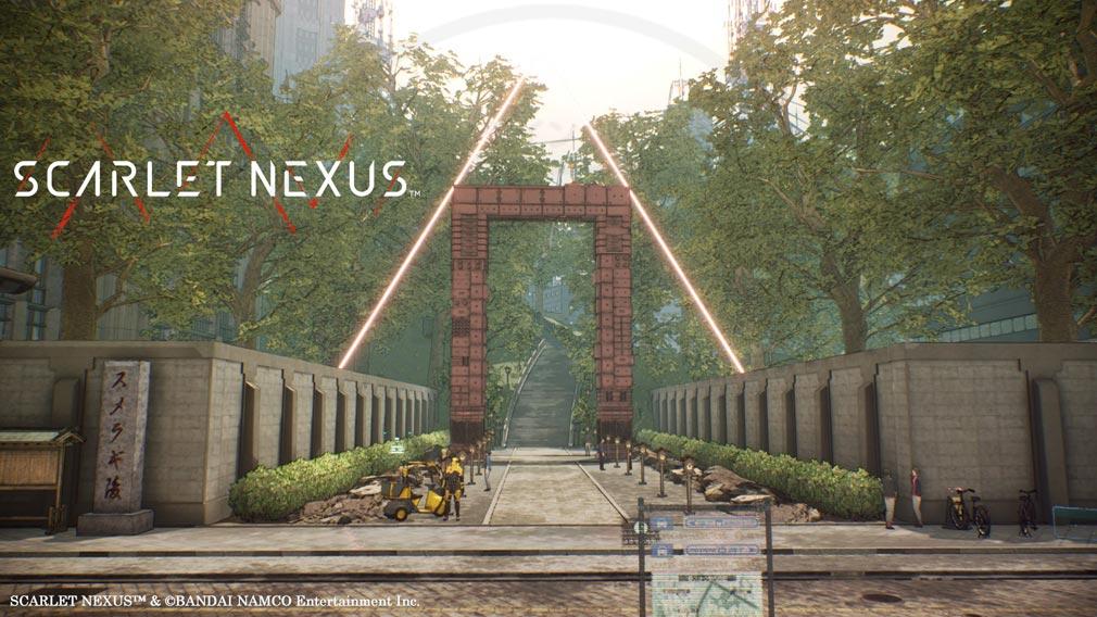 SCARLET NEXUS(スカーレットネクサス) 『スメラギ陵』入口スクリーンショット