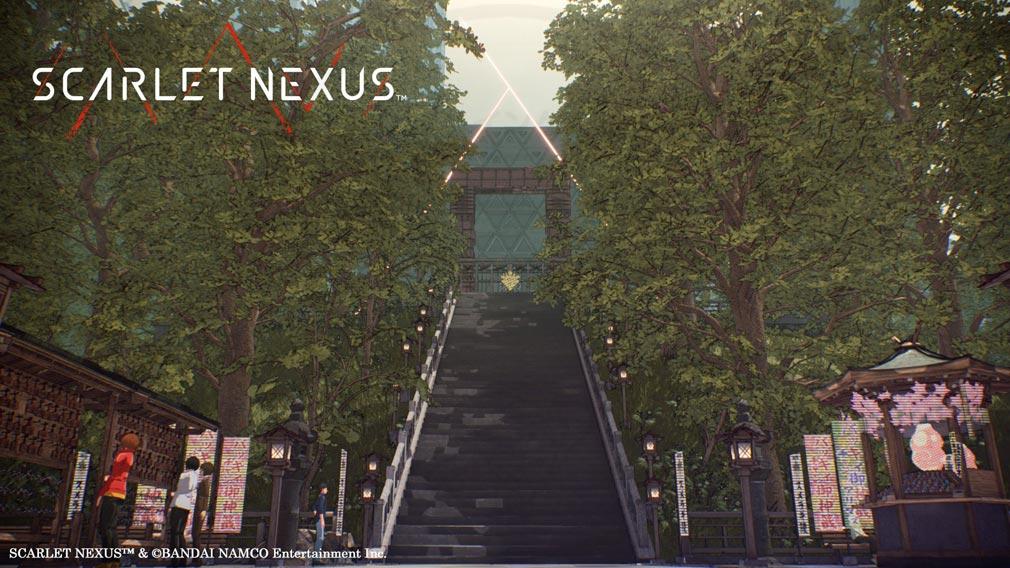 SCARLET NEXUS(スカーレットネクサス) 『ヤクモ・スメラギ』を奉る陵墓『スメラギ陵』スクリーンショット