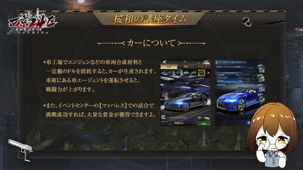 西京24区 百花争艶の役場 『CAR(車)』紹介イメージ