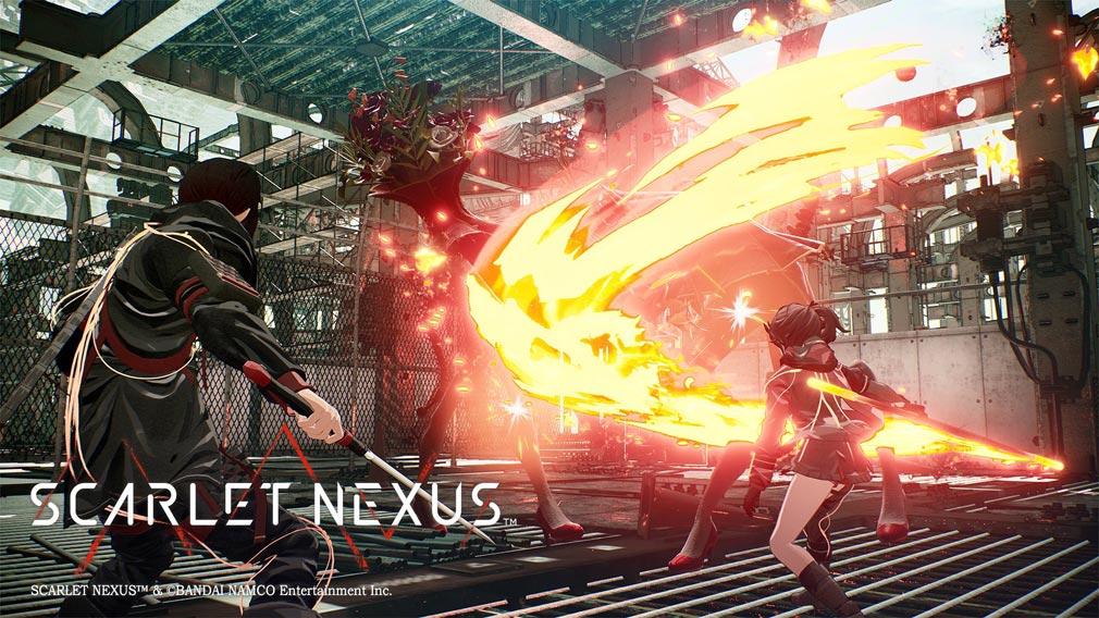 SCARLET NEXUS(スカーレットネクサス) キャラクター『ハナビ・イチジョウ』発火スクリーンショット
