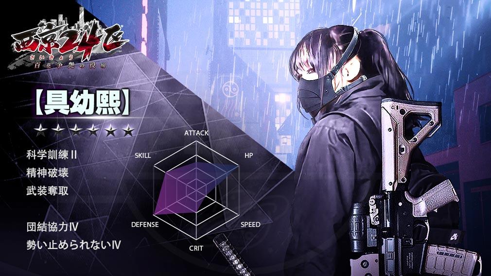 西京24区 百花争艶の役場 エージェント『具幼熙』紹介イメージ