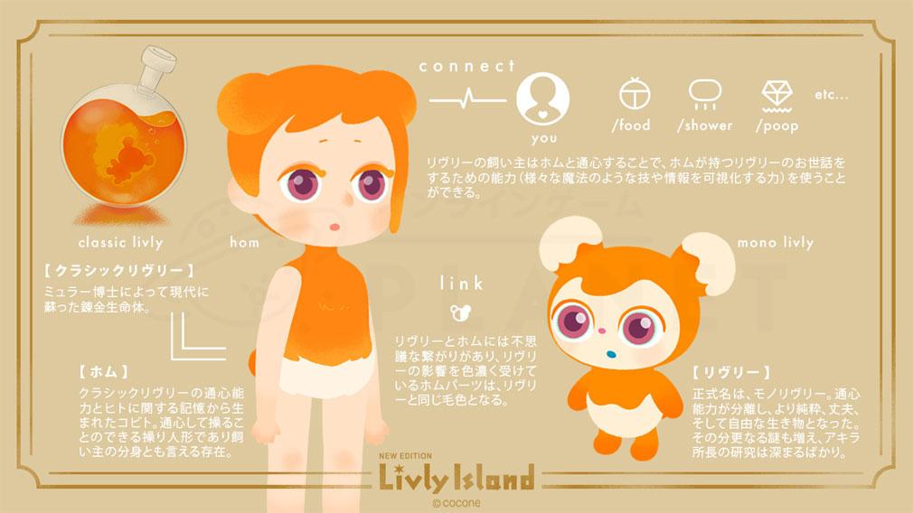 リヴリーアイランド(Livly Island) 『リヴリー』と『ホム』紹介イメージ