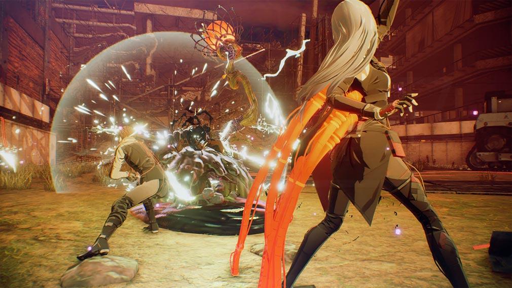 SCARLET NEXUS(スカーレットネクサス) キャラクター『シデン・リッター』放電バトルスクリーンショット