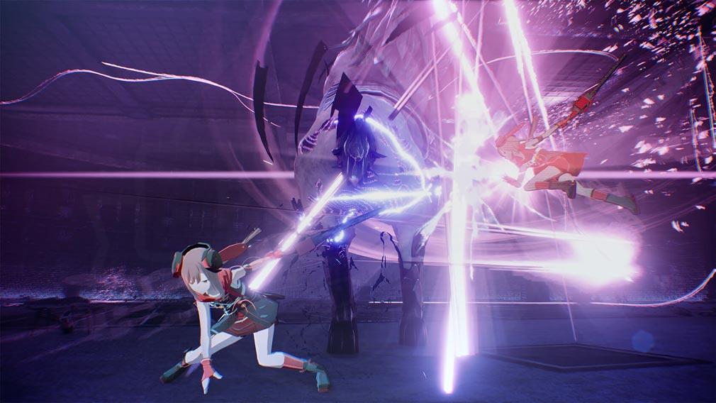 SCARLET NEXUS(スカーレットネクサス) キャラクター『アラシ・スプリング』超高速バトルスクリーンショット