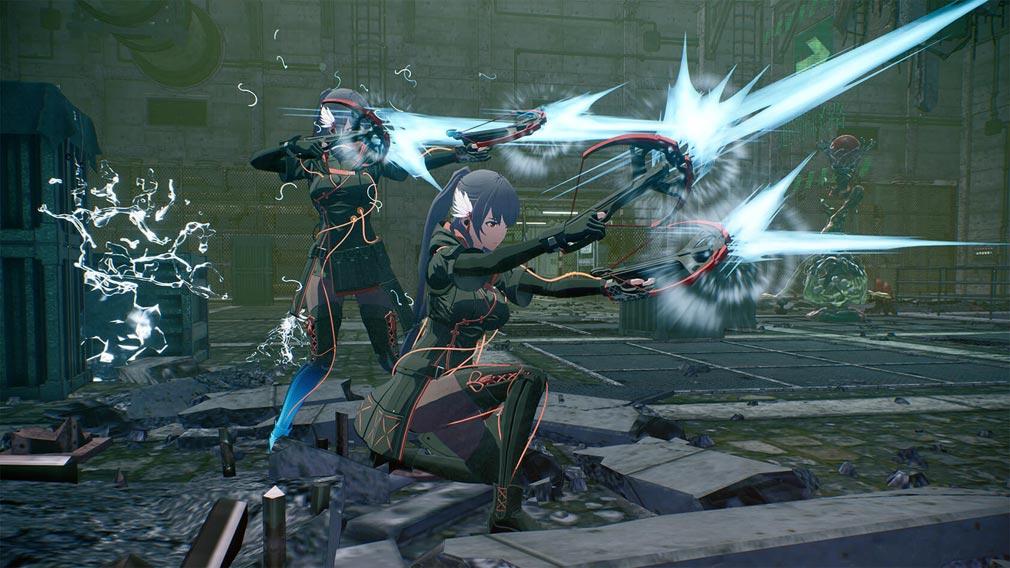 SCARLET NEXUS(スカーレットネクサス) キャラクター『キョウカ・エデン』複製バトルスクリーンショット