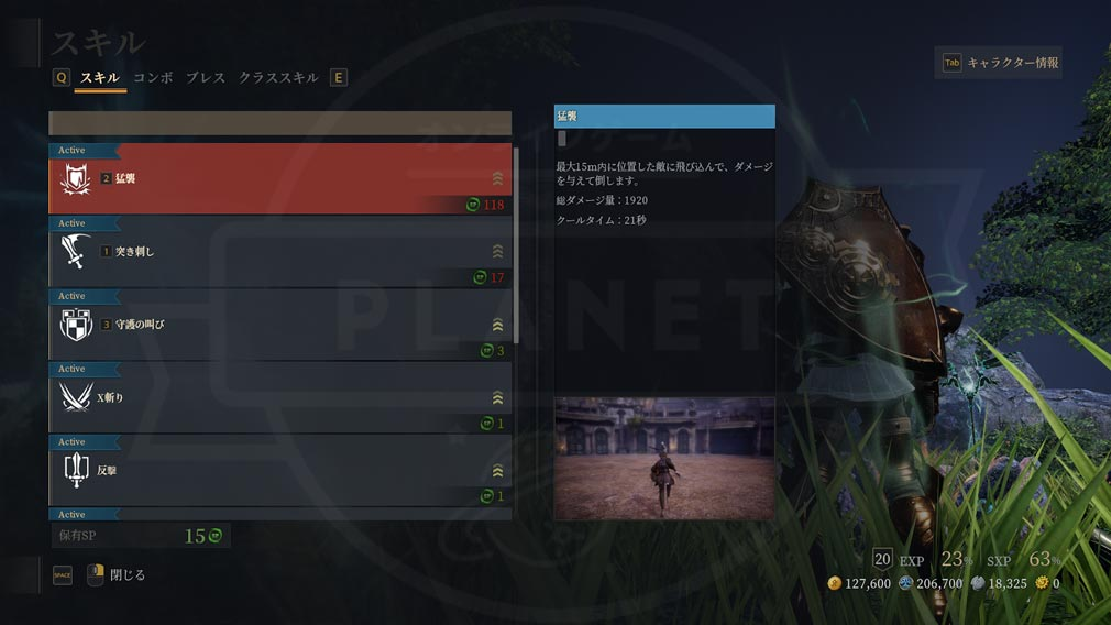 BLESS UNLEASHED PC(ブレスアンリーシュド) ガーディアンスキルスクリーンショット