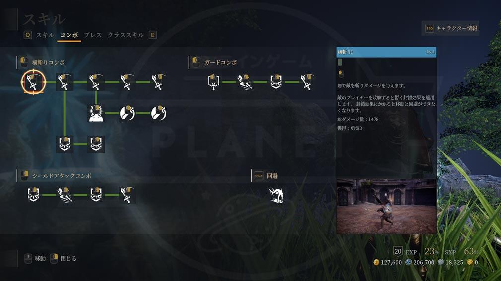 BLESS UNLEASHED PC(ブレスアンリーシュド) ガーディアン『コンボ回避スキル』組み合わせ2スクリーンショット