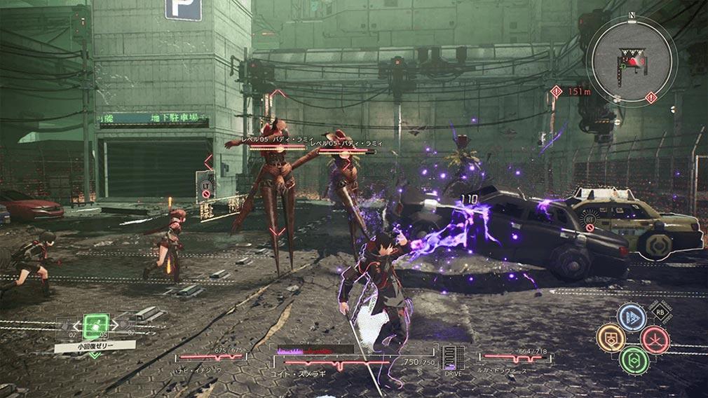 SCARLET NEXUS(スカーレットネクサス) パーティメンバーの力を借りて戦うバトルスクリーンショット