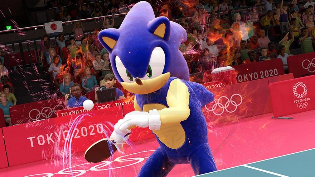 東京2020オリンピック The Official Video Game TM ソニック君の卓球プレイスクリーンショット