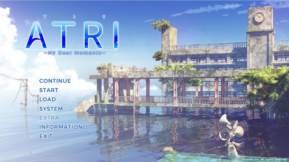 ATRI My Dear Moments(アトリ) ゲーム開始画面スクリーンショット