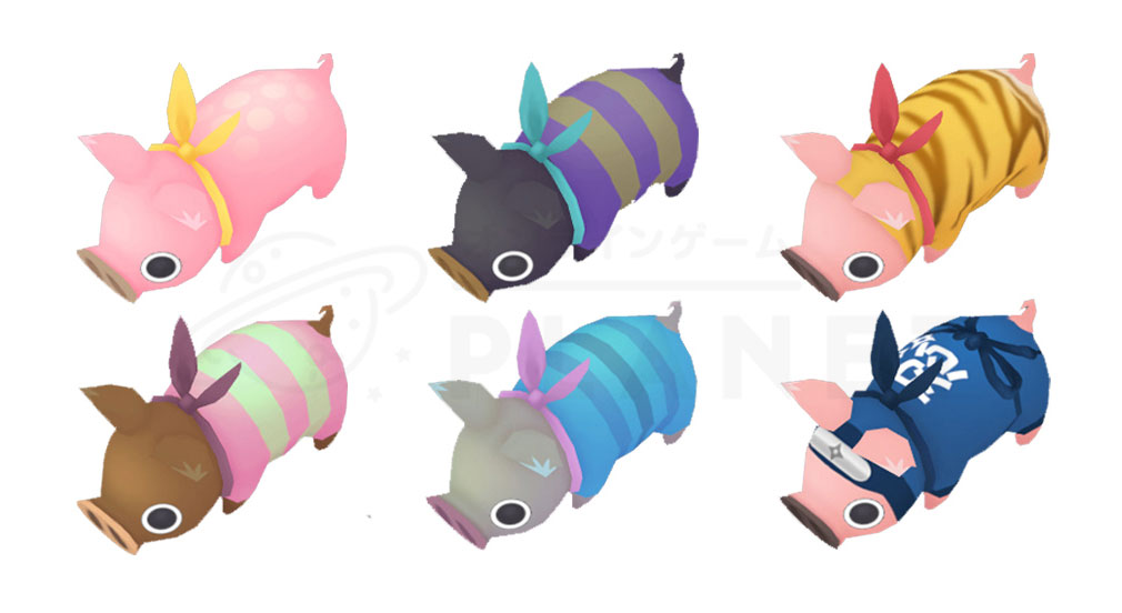 HUNGRY PIG(ハングリーピッグ) 色々な柄の腹ぺこブタ紹介イメージ