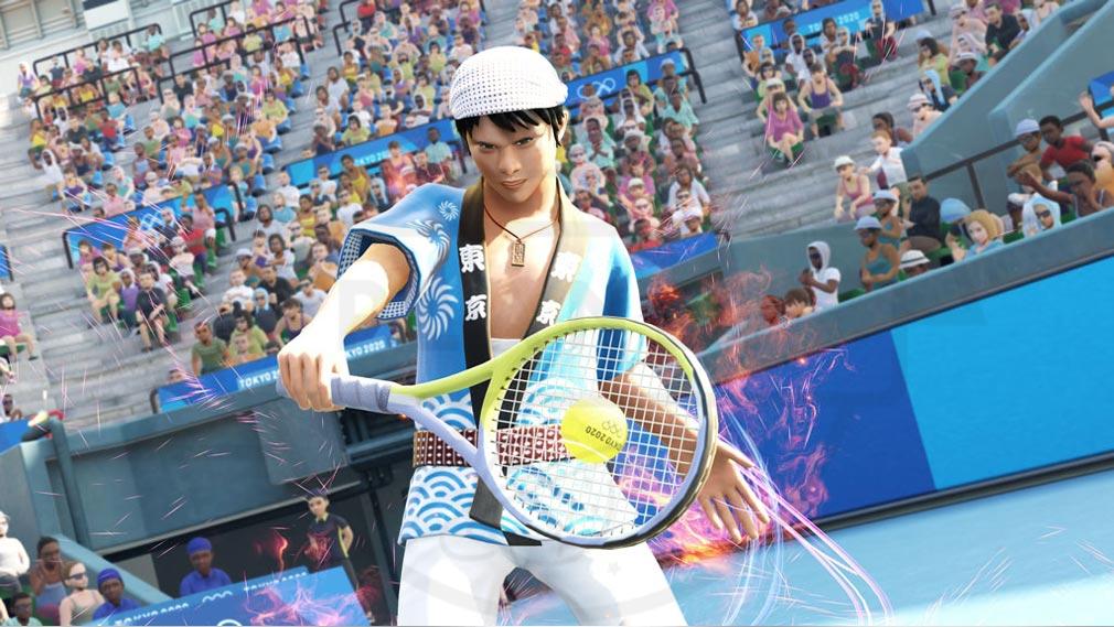 東京2020オリンピック The Official Video Game TM 法被を着てテニスを行うスクリーンショット