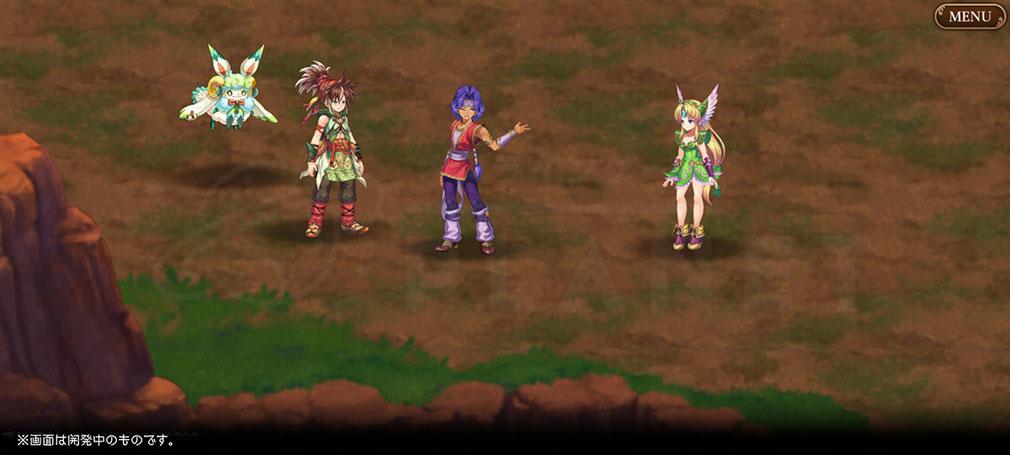 聖剣伝説 ECHOES of MANA(聖剣伝説 エコーズオブマナ)聖剣EoM フィールド上の2Dキャラスクリーンショット
