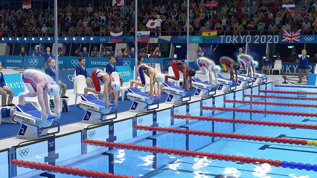 東京2020オリンピック The Official Video Game TM 水泳競技スクリーンショット