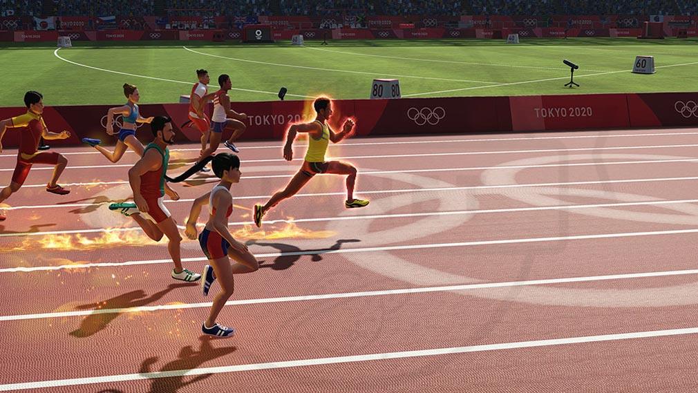 東京2020オリンピック The Official Video Game TM 金メダルを目指して競い合うスクリーンショット