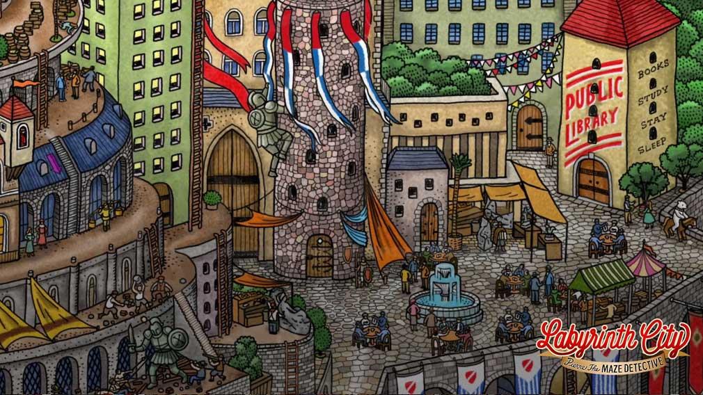 迷路探偵ピエール ラビリンス・シティ 精巧に描かれた迷路の世界スクリーンショット