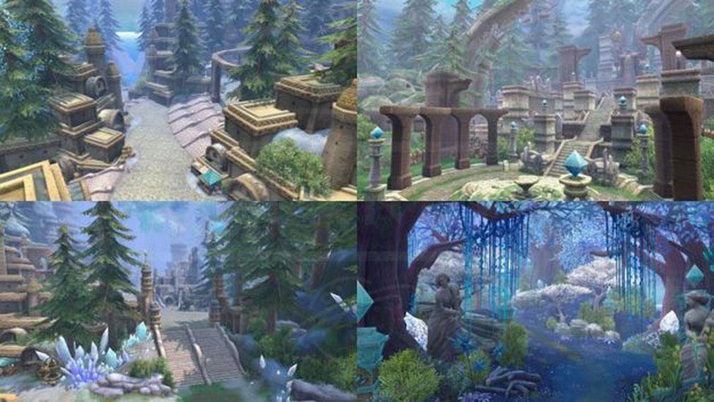 幻想神域Another Fate 新マップ『クルヴァート晶原』『まどろみの秘谷』スクリーンショット