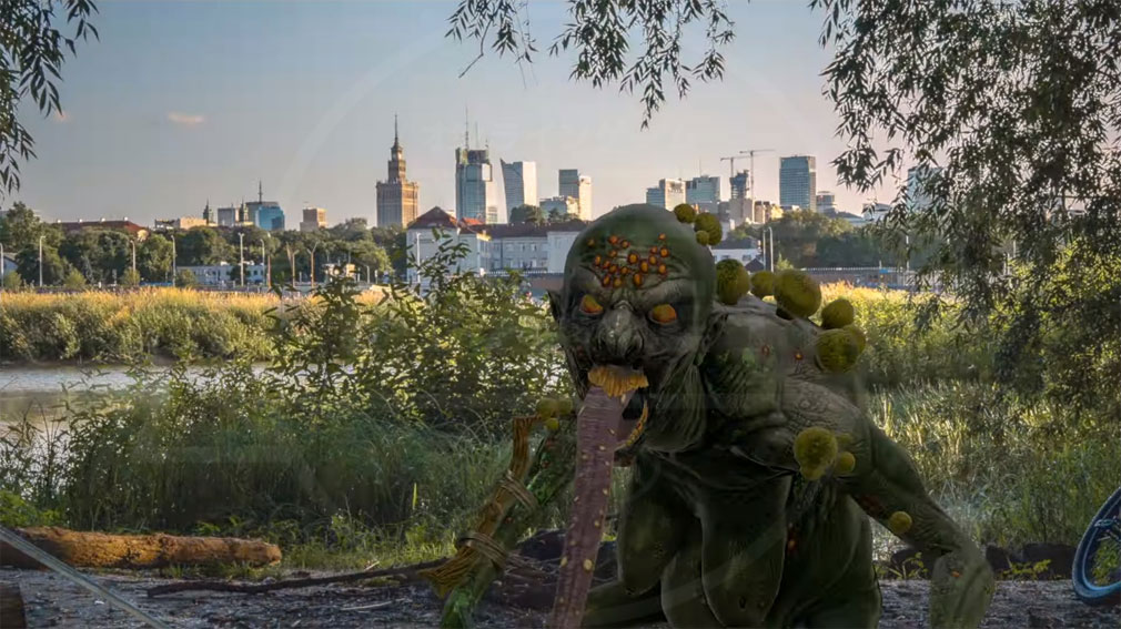 ウィッチャー モンスタースレイヤー(The Witcher Monster Slayer) 現実世界がAR技術によってダークファンタジー世界に変貌した紹介イメージ