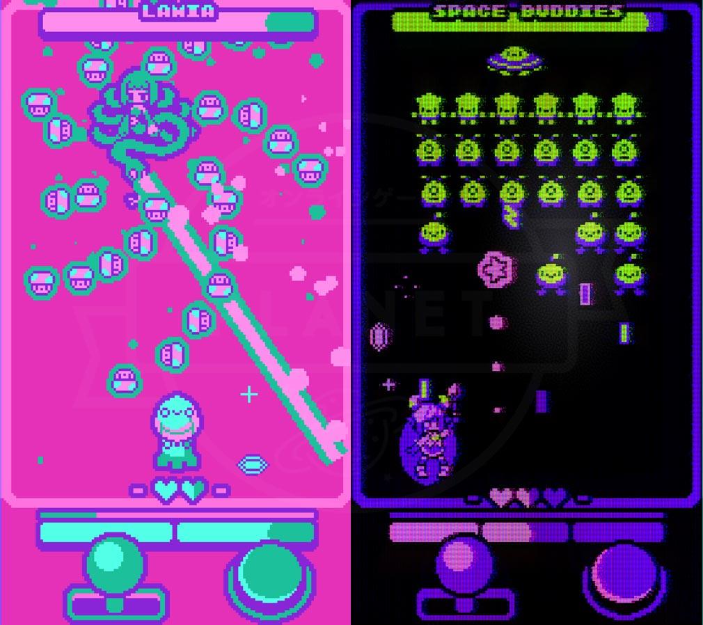 Super Glitter Rush(スーパーグリッターラッシュ) 敵の弾を集めて巻き込むスマホ版スクリーンショット