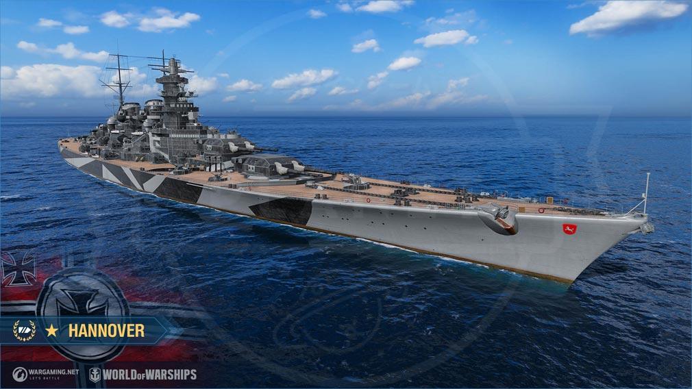 World of Warships(ワールドオブウォーシップス)WoWs 『Hannover(ハノーファー)』スクリーンショット