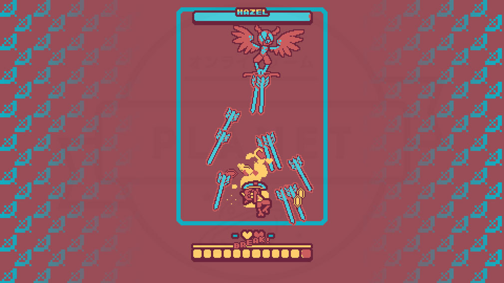 Super Glitter Rush(スーパーグリッターラッシュ) 敵の弾を巻き込むバトルスクリーンショット