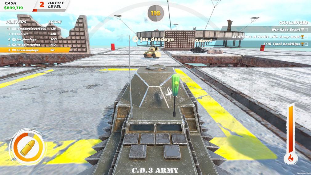 クラッシュドライブ3 戦車バトルモードスクリーンショット