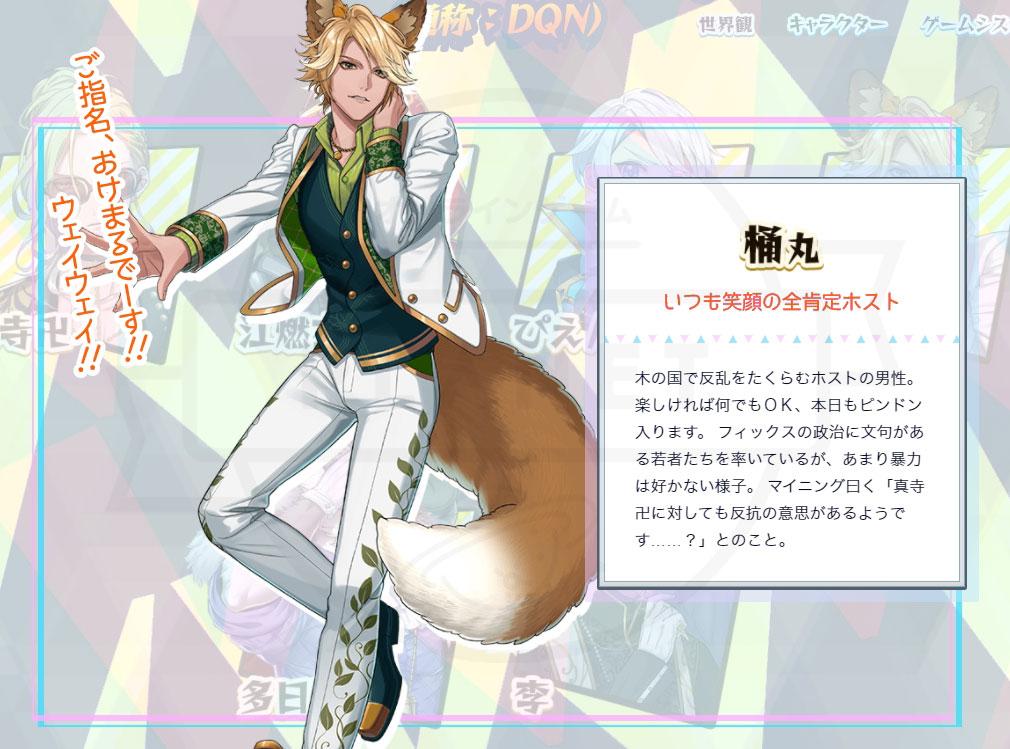 パズドヤ(パズルゲーが出たと思ったら世界観がキルドヤでゲームはエレストだった!) DQNキャラクター『桶丸』紹介イメージ