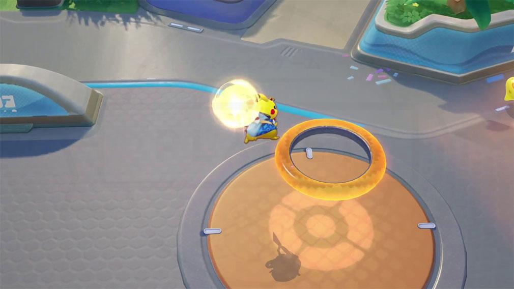 ポケモンユナイト(Pokémon UNITE) お祭りスタイルのピカチュウの試合スクリーンショット