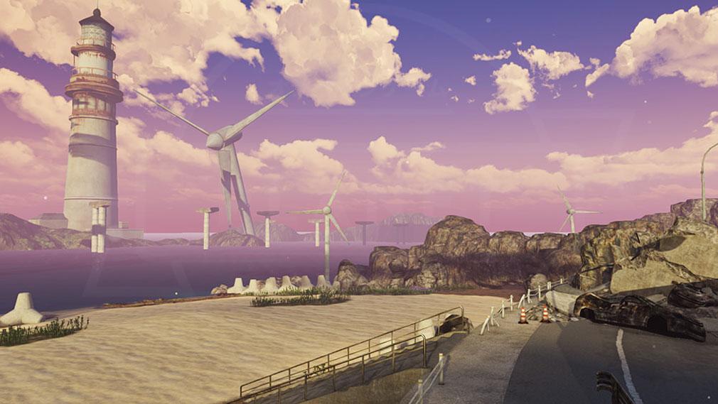 BLUE REFLECTION TIE ブルーリフレクション 帝(ブルリフT) 風力発電機が確認できる『ココロトープ』スクリーンショット