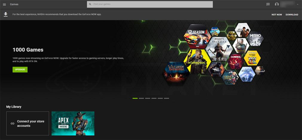 GeForce NOW Powered by SoftBank PCブラウザ版スクリーンショット