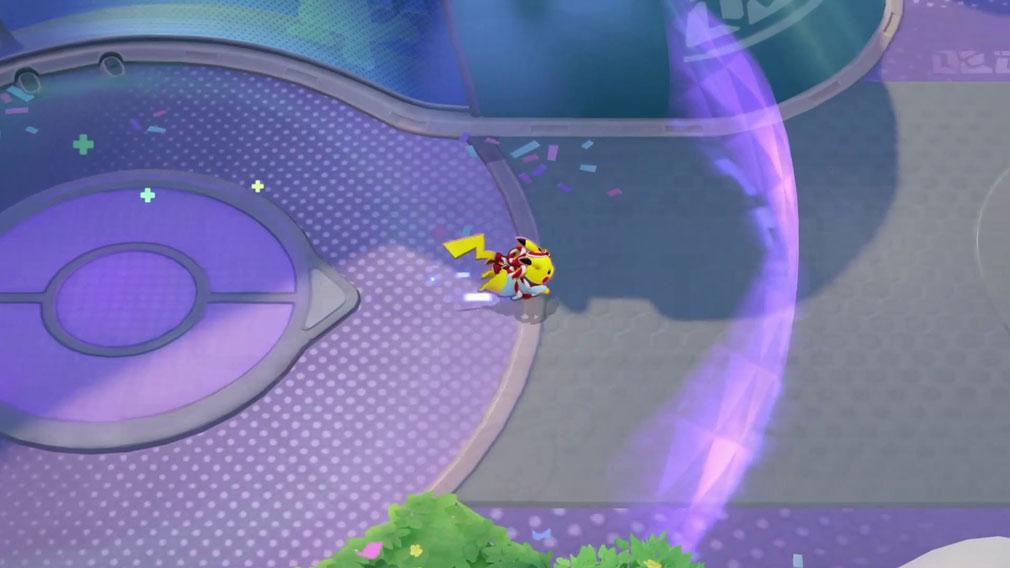 ポケモンユナイト(Pokémon UNITE) お祭りスタイルのピカチュウのバトルアクションスクリーンショット