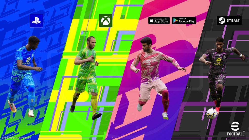 eFootball 対応する全デバイスでオンライン対戦できる紹介イメージ