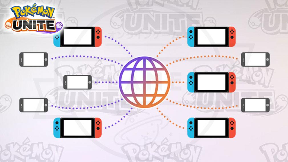 ポケモンユナイト(Pokémon UNITE) Nintendo Switchとスマートフォンの両方に対応している紹介イメージ