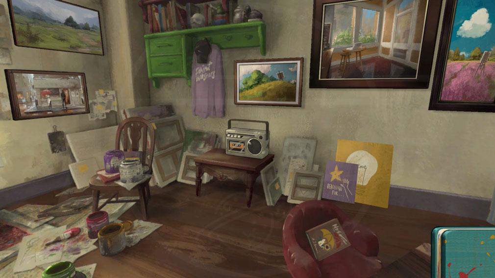 Behind the Frame とっておきの景色を セル画風の部屋スクリーンショット