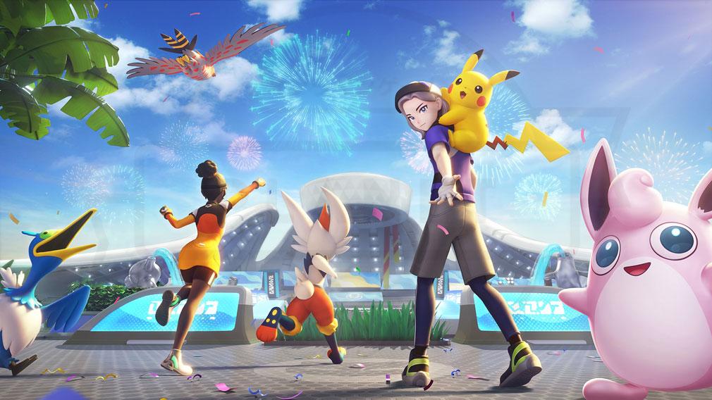 ポケモンユナイト(Pokémon UNITE) 幻の島『エオス島』紹介イメージ