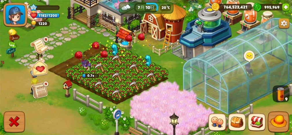 リアルファーム 作物収穫スクリーンショット